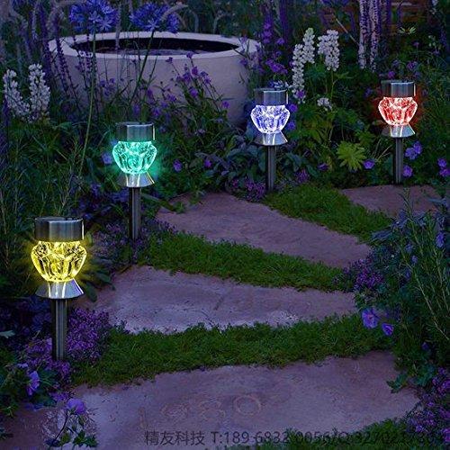 KEEDA Solar Pathway Lights, Diamond Glass Solar lights, Outdoor Garden Lights, Solar Landscape