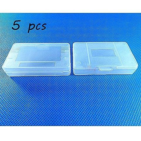 Laixing Bonne Qualité 5pcs Clear White Game Cartridge Case fur Game Boy GBA SP