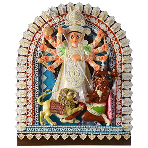 Gifts 'n' Greetings Polyresin Maa Durga Show Piece, 26x4x32cm(Multicolour)