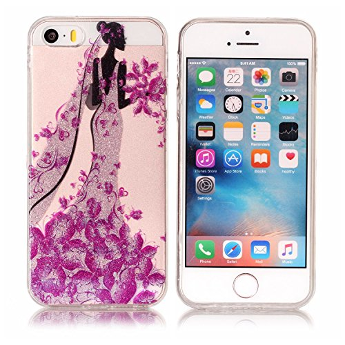 3 X iPhone 7 Coque, Vandot Doux Transparent TPU Silicone Etui Style D'aquarelle Dessin Animé Motif Animal Case Shock-Absorption Anti-rayures Cover Ultraléger Ultra-mince Cover pour iPhone 7 Watercolor Paillette-04