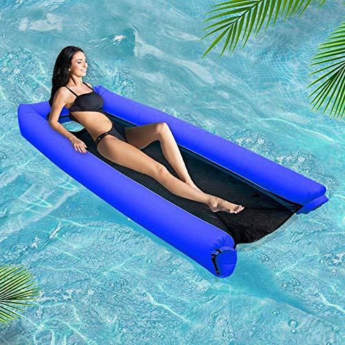 Pool-stoff (FOONEE Aufblasbare Pool-Schwimmkörper Für Erwachsene Und Kinder, Tragbare Pool Floß Wasser Hängematte Kein Leck-Ripstop-Stoff-Float-Lounger, Schnell Aufgeblasen, Keine Pumpe Erforderlich)