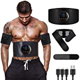 Electrostimulateur Musculaire, Ceinture Abdominale EMS Stimulateur Appareil Pas besoin de feuilles de gel USB Charge Femme Ho