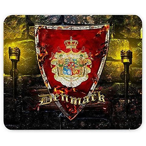 Escudo de armas colección 2, Custom adhesivo para MacBook piel de vinilo mangas de diferentes tamaños, Coat of Arms Denmark, Leather Mouse Mat