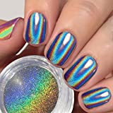 USHION Nagel Pulver Hologramm Chrome Pulver Glitzer Regenbogen Einhorn Spiegel Nägel - Holographic Nail Powder Mirror Nails Chrome Powder Nail Art Deco
