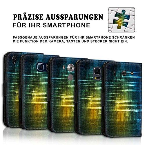 Wallet Book Style Flip Handy Tasche Case Schutz Hülle Schale Motiv Etui für Apple iPhone 4 / 4S - Variante UMV6 Design12 Design 1