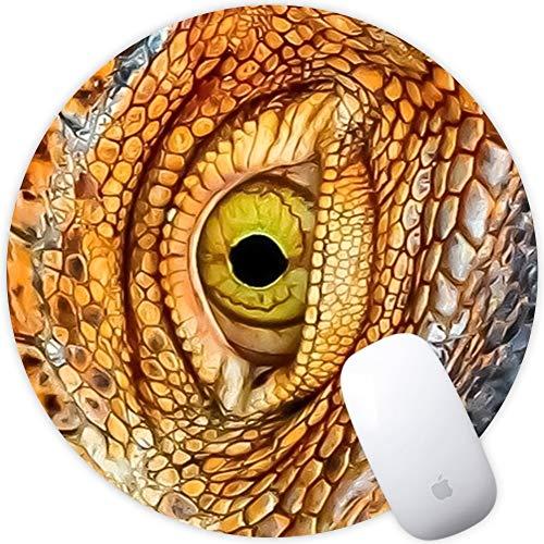 SEBOM Runde Gaming-Mauspad Anti-Rutsch-Gummi-Mauspad Schreibtisch-Pad Desktop-Dekor-Gamer-Mauspad Spezielle Oberfläche erhöht die Geschwindigkeit und Präzision von 200 * 200 * 3mm Schlange - Elektro-schlangen