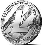 Physische Litecoin Medaille mit echtem Silber überzogen. Wahres Sammlerstück mit Münzkapsel - Kollektion 2018. EIN Muss für jeden Krypto-Fan + GRATIS E-Book gegen Cyber-Attacken