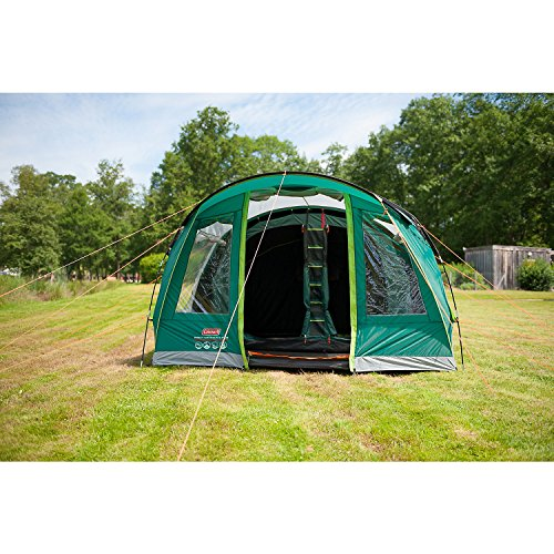 619CrQF0cZL. SS500  - Coleman Rocky Mountain 5 Plus Family Tent, 5 Man Tent, Blocks up to 99 Percent of Daylight, 2 Bedroom Family Tent, 100…