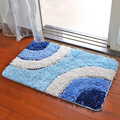 Hmy LRW Mat Mat Mat Im Badezimmer WC Wasser Badematte Matte Mat Schlafzimmer Teppich (Color : D, Size : 45x65cm)