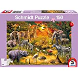 Schmidt Spiele 56195Animales en África Puzzles, 150piezas
