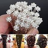 Seguryy Lot de 20 Bijoux Epingle à Cheveux en Forme de Fleur Pour Marriage /Soirée /Anniversaire...