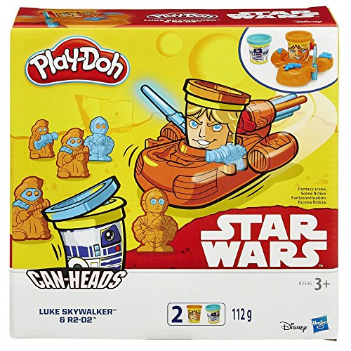 Play-Doh Star Wars Can-Heads Luke Skywalker And R2-D2 Play Set With 2X Tubs
