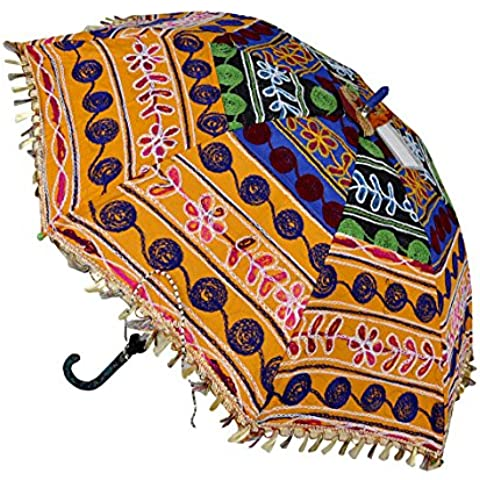 Borse a mano design decorativo ricamato ombrello 61x 71cm