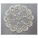 Elegante Spitzendecke Annabelle 30 cm rund Tischdekoration Tischwäsche Deckchen