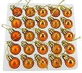 Christmas Concepts® Packung mit 25 Glänzend, Matt & Glitter Mini Weihnachtsbaum-Flitter (Copper)