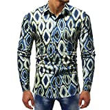 Herren Top,Shopaholic0709 Herren Lässige Printed Bluse beiläufige Lange Hülsen-dünne Hemd-Oberseiten Herren T-Shirt Top Fashion Pullover Solides T-Shirt Sport Bluse Top