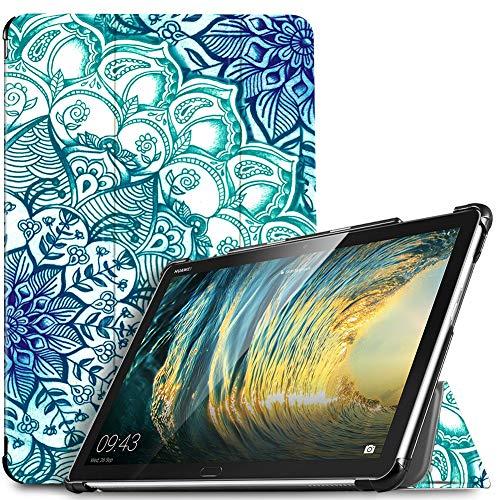 IVSO Hülle für Huawei MediaPad M5 Lite 10, Ultra Schlank Slim Schutzhülle Hochwertiges PU mit Standfunktion Perfekt Geeignet für Huawei MediaPad M5 Lite 10 10.1 Zoll 2018 Modell, Green Emerald