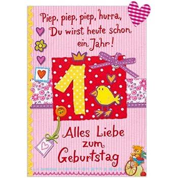 Gluckwunschkarte Geburtstagskarte 1 Geburtstag Madchen Amazon De