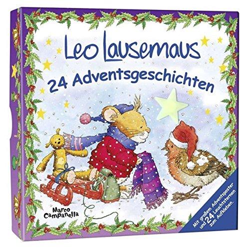 Preisvergleich Produktbild Adventsbox - Leo Lausemaus: 24 Adventsgeschichten (Lingoli)