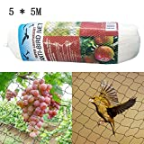 BDRateful Vogelschutznetz 5 x 5M Weißes Gartenteichnetz Pflanzenschutznetz Vogel-Ineinander Greifen, 2 Stck