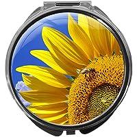 Pillendose/rund/Modell Leony/Natur - Blumen/SONNENBLUME preisvergleich bei billige-tabletten.eu