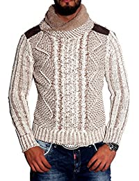 Puma pull-over pour homme en tricot neal 3188 sweat-shirt col châle pull pour homme