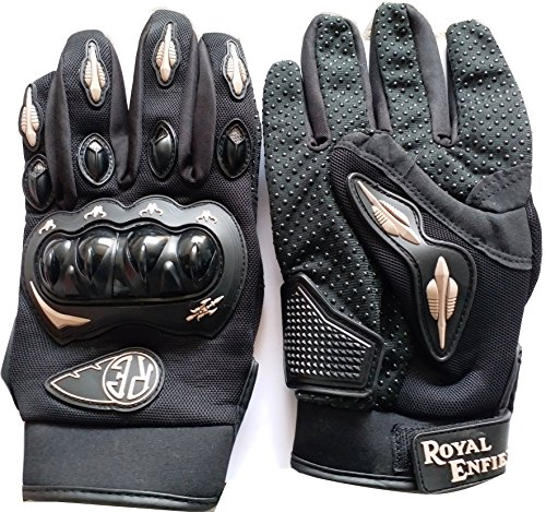 autosun royal enfield motorcycle gloves (black, xl) AutoSun Royal Enfield Motorcycle Gloves (Black, XL) 619DgyeixfL