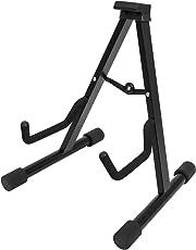 CASCHA HH 2069 Gitarrenständer für Akustikgitarre und E-Gitarre geeignet, schwarz