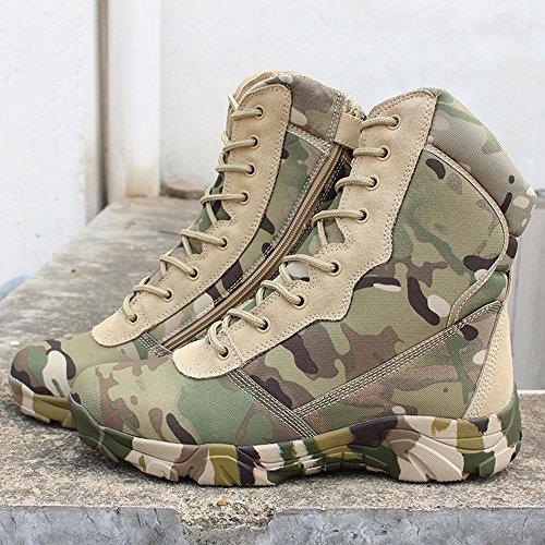 BUSL Schnür-Motorrad-Stiefel der Männer hohe Bein-Wüstenstiefel Jagd-Schuhe. die Schuhe wandern Freizeitschuhe Bergsteigerschuhe . green camouflage . 39