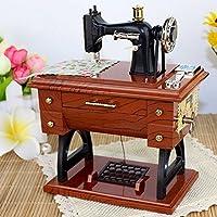 Carrusel Musical caja de música mecánico máquina de coser Vintage ...