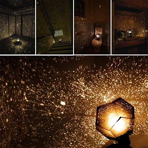Cosmos Night Lampe Btruely Sternenklar Himmel Beamer Weihnachten Celestial Star Cosmos Night Lamp Stern-Beleuchtung Lampe Grad Romantische Projection Lamp