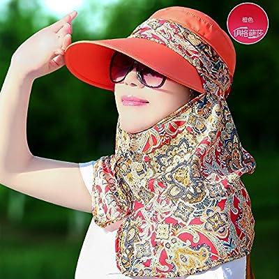Im Sommer Sonnenhut hat weibliche koreanische Alle-match Abdeckung entlang der Sonnenhut UV Gesichtsschleier Hals schutz Sonnenhut von SJMM auf Outdoor Shop