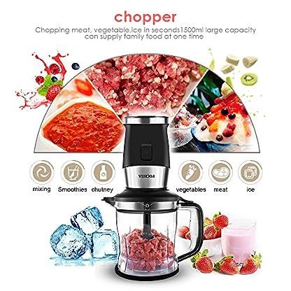 Mixer-Smoothie-Maker-3-in1-Multifunktion-Standmixer-Fleisch-ZerkleinererIce-Crusher-Kaffeemhle-700-Watt-24000UMin-Elektrisch-Shake-Smoothie-Mixer-mit-570ml-Sport-Flasche-BPA-frei