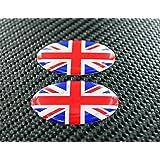 United Kingdom Union Jack Drapeau Triumph ovale Paire 3d en forme de dôme Autocollant