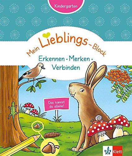 Klett Mein Lieblings-Block ...Erkennen, Merken, Verknüpfen: Das kannst du alleine!; Kindergarten ab 3 Jahren