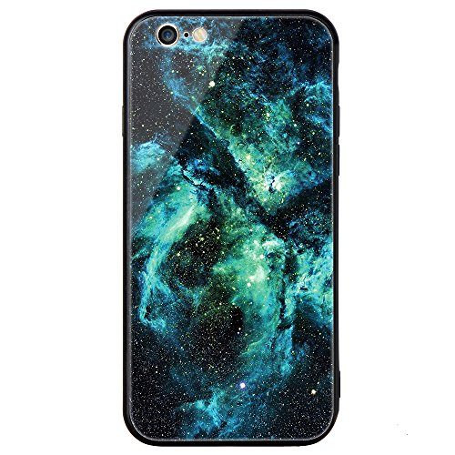 iphone 6 Tempered Glass Case,SUNWAY [Starry Sky][Scratch Resistant] 3 In 1 Ultra-Thin PC Hard Cover 360 Degree Protection Slim Case For Apple iphone 6 - Green