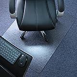 Marvelux Polycarbonat Bodenschutzmatte für Teppichböden | 130 x 120 cm | rechteckig | transparent | in verschiedenen Größen erhältlich