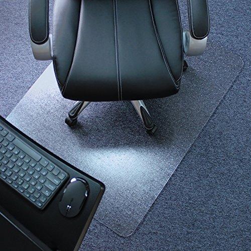 Marvelux Polycarbonat Bodenschutzmatte für Teppichböden | 90 x 120 cm | rechteckig | transparent | in verschiedenen Größen erhältlich