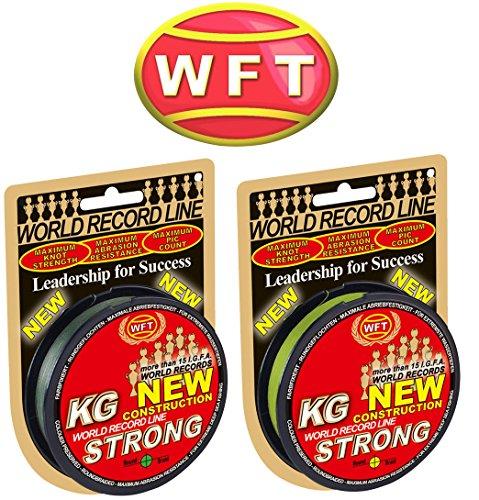 WFT KG STRONG 150m 0,12mm 15kg, geflochtene Schnur, Meeresschnur, Angelschnur, Geflechtschnur, Farbe:Gelb