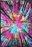 Tie Dye Städtische Wandteppich, indisches Baum Wandbehang, böhmische Bettwäsche Twin, Boho Strand Decke, Hippie Wohnheim Dekor, Gypsy Picknick Überwurf