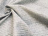 LushFabric Kleine weiße Ziegelwand Baumwolle Stoff Vorhang Material Stein Steine, weiß Brick, weiß Wand, Little Bricks–139,7cm/140breit (Meterware)