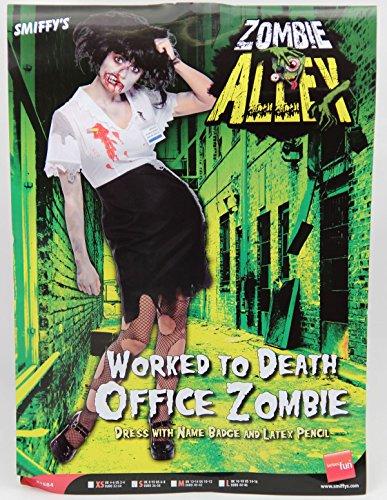 amen Geschäftsfrau Zombie Kostüm Halloween Damenkostüm Halloweenkostüm Gr. 34 (XS), 36/38 (S), 40/42 (M), 44/46 (L), , Größe:S (Halloween Zombie Kostüme Uk)