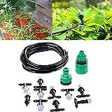 Huacam Micro Drip Bewässerung Kit, 10m Automatik Micro Drip Kit DIY Bewässerungssystem Automatische Bewässerung Automatische Sprinkler für Garten, Landschaft, Flower Bed, Terrasse Pflanzen