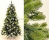 PE Weihnachtsbaum mit LED Beleuchtung und silberne Kugeln 210cm, 1156 Tips mit Spritzguss Nadeln B1 - künstlicher Weichnachtsbaum künstliche Weihnachtsbäume Deko Weihnachts Bäume Tannenbäume Nordmann Tannen Christbäume, geschmückte Weihnachtsbäume </p> --> großes Weichnachtsbaum, Tannengirlanden Weihnachts Deko Sortiment
