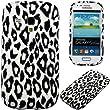HandyFrog TPU Schutzhülle f. Samsung I8190 Galaxy S3 Mini - weiß white schwarz black Leopard - Silikonhülle Handy Case Cover Hülle Handyschale Handytasche