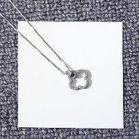 Hongrun El hueco de cuatro hojas-girl s925 Sterling Silver Necklace clavícula cadena fina), el Japón y la República de Corea con incrustaciones de diamantes de plata joyas regalar amigos