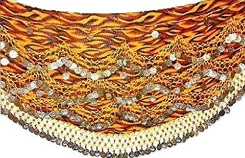Ballerino mondo Plus Size Mega Noisy monete danza del ventre hip sciarpe cintura dimensioni l XL 2X L UK 14A 20, multicolore, XXL