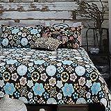 Merryfeel, Bettwäschegarnitur, 100 % mit Blumenmuster bedrucktes Bettbezug-Set, baumwolle, multi, (Double Set)200x200+2x50x75cm