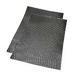 BBQ Grillmatte Grill Mesh Reusable Set- STAGO 2 Stück Grill Mat zum Grillen und Backen Antihaft Mat und Backmatte wiederverwendbar,Grillen Mesh Hitzebeständig bis zu 500F (260 ℃) und Easy to Clean,ideal für gasgrill Backofen als Backpapier Ersatz verwendbar 40*30cm