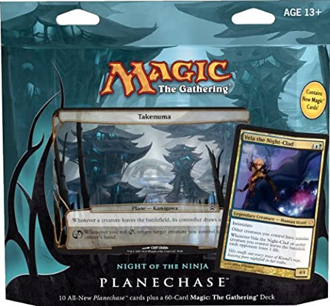 Magic the Gathering- MTG: Planechase (2012 Edition) Night of the Ninja - Game Pack by GTS Distribution